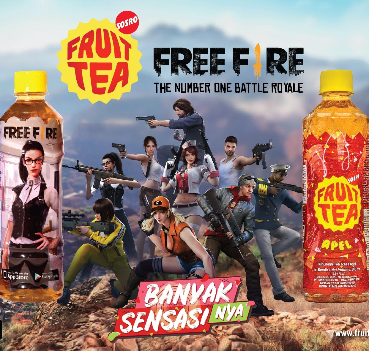PT Sinar Sosro › SKIN FREE FIRE GRATIS DARI FRUIT TEA SOSRO